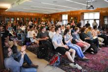 students, LALS, 2019, Linderman, lecture, library